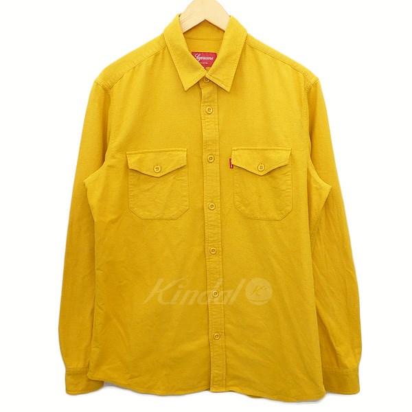 【中古】SUPREME コットンシャツ イエロー サイズ:M 【送料無料】 【160418】(シュプリーム)