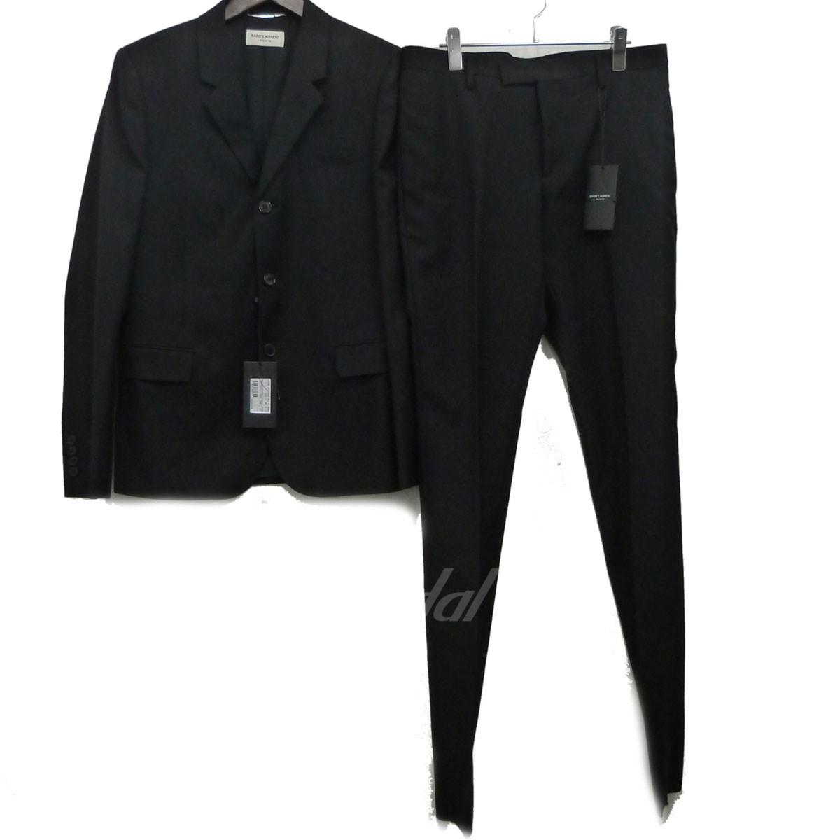 【中古】SAINT LAURENT PARIS 16AWセットアップスーツ ブラック サイズ:48/48 【送料無料】 【210418】(サンローランパリ)