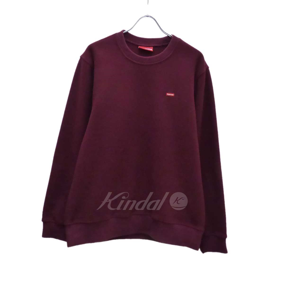 【中古】SUPREME Small Box Logo Polartec Fleece Crewnec 2016A/W エンジ サイズ:M 【送料無料】 【300418】(シュプリーム)