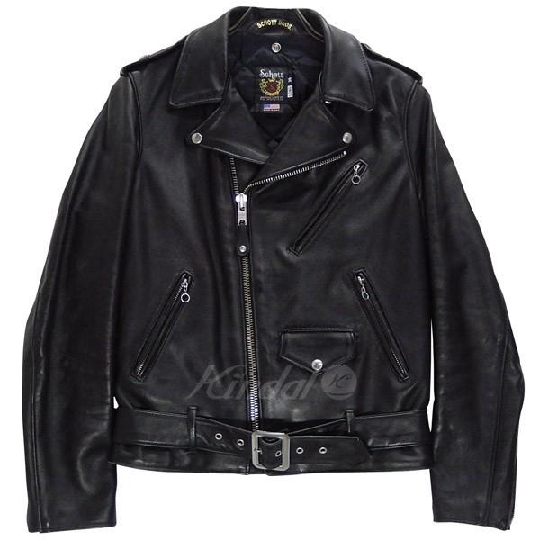【中古】SCHOTT 613UST ワンスター ライダース レザージャケット LONG ブラック サイズ:36 【送料無料】 【020518】(ショット)