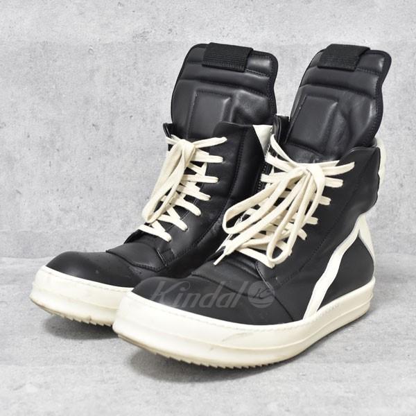 【中古】Rick Owens 17AW GEO BASKET ジオバスケット ハイカットスニーカー ブラック サイズ:42 【送料無料】 【020518】(リックオウエンス)