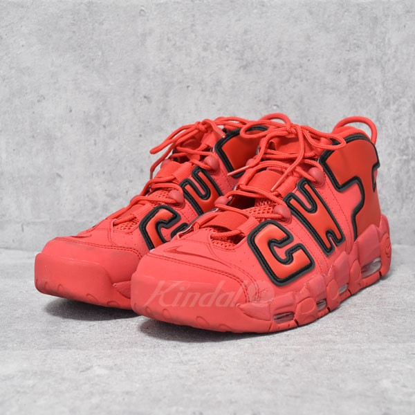 uk availability 284d7 87d2e ... NIKE 17AW AIR MORE UPTEMPO CHI QS Nike air more up tempo red size US10.
