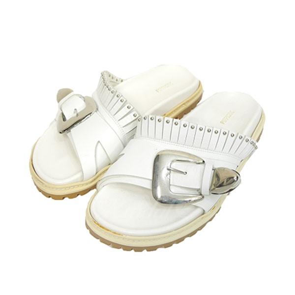 【中古】Pippichic 2016SS Tunk sole Bukkele sandal レザー サンダル ホワイト サイズ:38 【送料無料】 【050518】(【シック】)