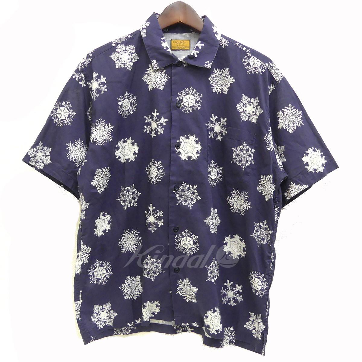 【中古】BROWN by 2-tacs アロハシャツ ネイビー サイズ:S 【送料無料】 【090518】(ブラウンバイツータックス)