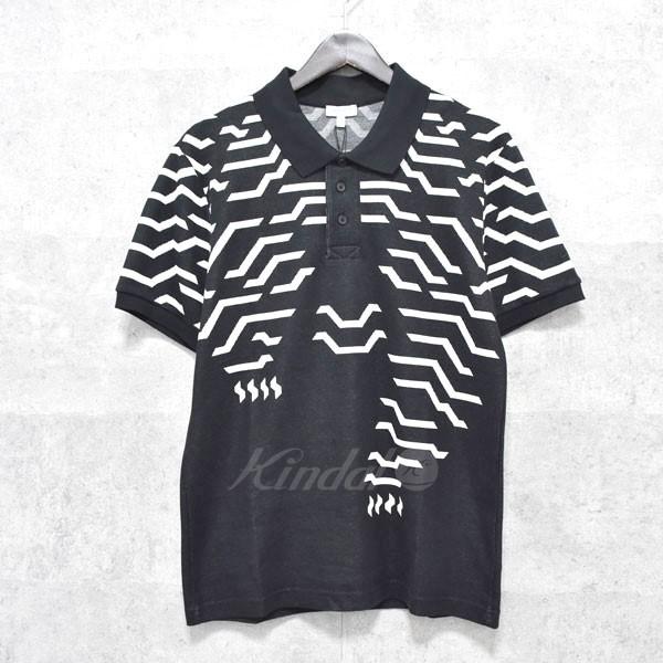 【中古】KENZO 半袖ポロシャツ ブラック×ホワイト サイズ:M 【送料無料】 【120518】(ケンゾー)