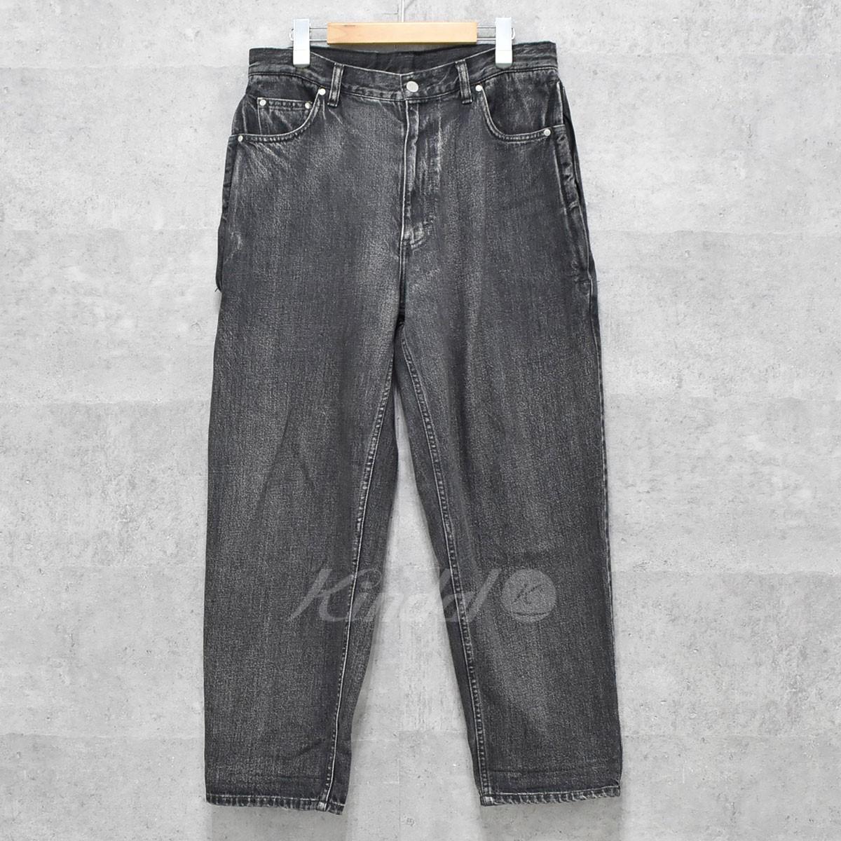 【中古】BEAMS SURF&SK8 pop blk 8pk denim pants デニムパンツ 17AW ブラック(グレー) サイズ:S 【送料無料】 【120518】(ビームスサーフアンドスケート)