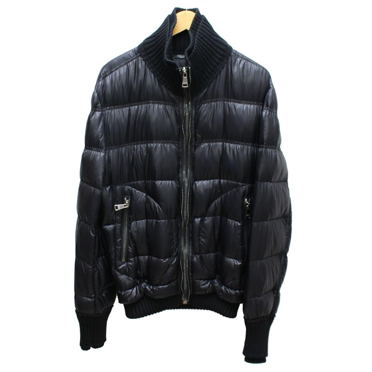 【中古】DOLCE&GABBANA ダブルジップ&リブ中綿ジャケット ブラック サイズ:46 【送料無料】 【130518】(ドルチェアンドガッバーナ)