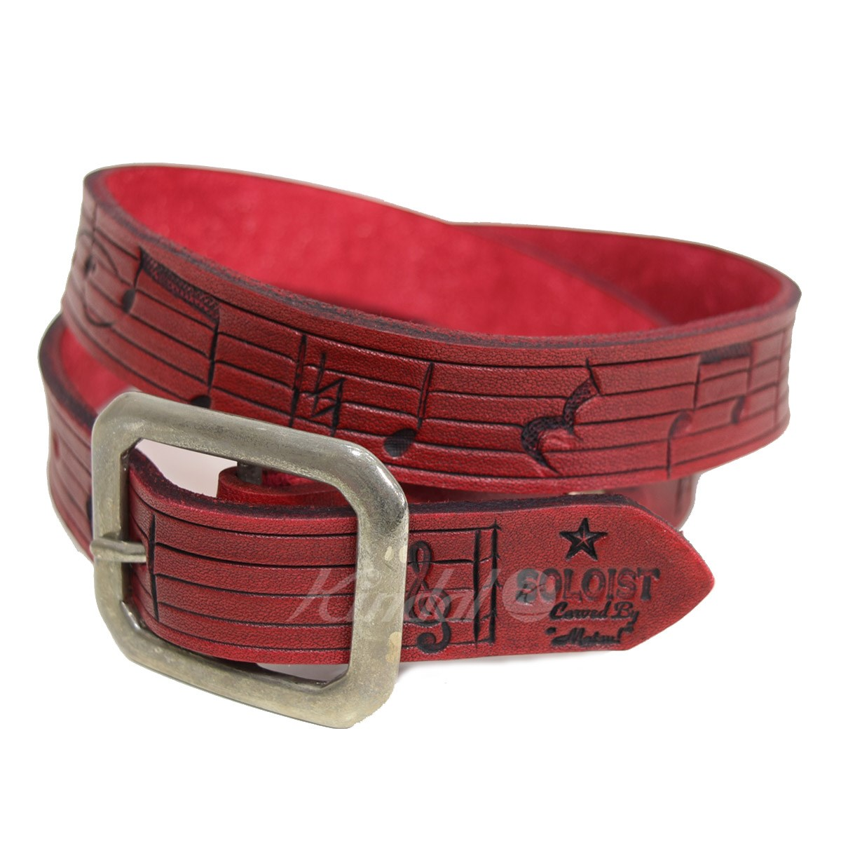【中古】TAKAHIROMIYASHITA TheSoloIst. leadbelly belt レッドベリーベルト 2018SS 【送料無料】 【003589】 【KIND1641】