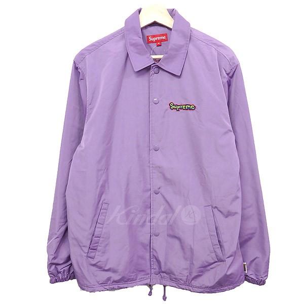 【中古】SUPREMEGonz Logo Coaches Jacket 2018SS パープル サイズ:M