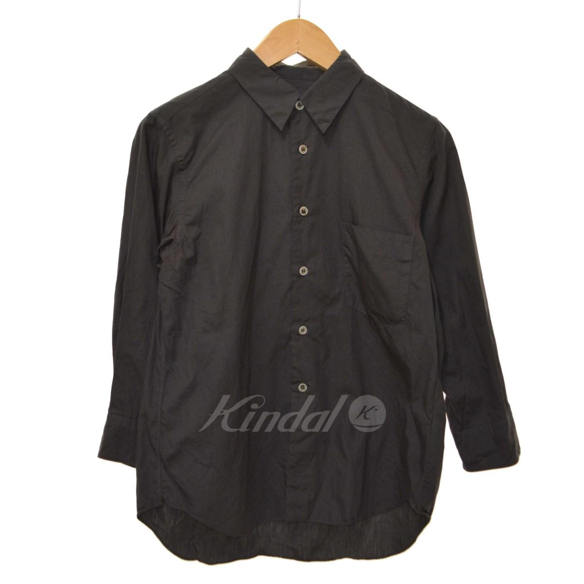 【中古】BLACK COMME des GARCONS AD2012 9分丈シャツ ダークグレー サイズ:XS 【130518】(ブラック コムデギャルソン)