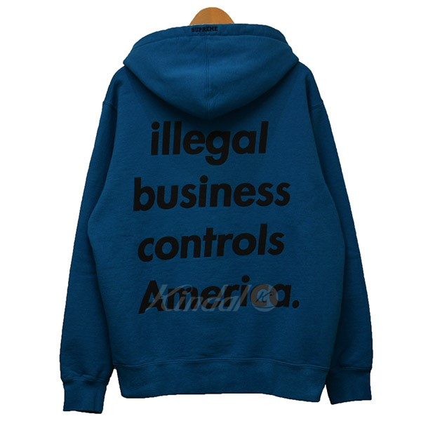 【中古】SUPREME 18SS Illegal Business Hooded Sweatshirt イリーガル パーカー 【送料無料】 【000608】 【銅】