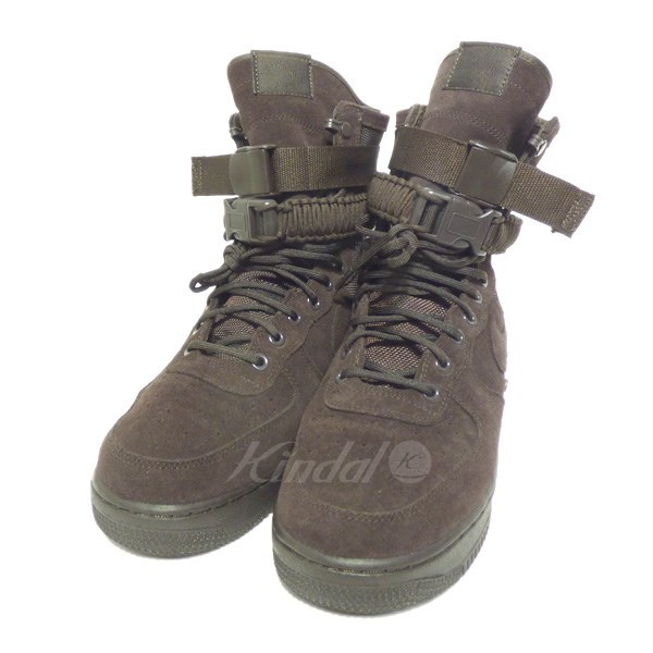 【中古】NIKE SPECIAL FIELD AIR FORCE 1 BROWN VELVET スニーカー 【送料無料】 【055379】 【KIND1550】