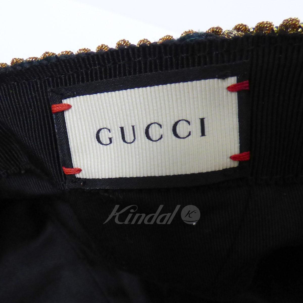GUCCI 16AW Velvet Cap velour fringe cap moss-green size  XL(60cm) (Gucci) ccdc8baf8f0f