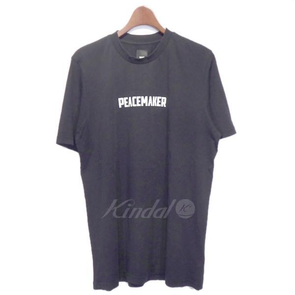 【中古】OAMC (OVER ALL MASTER CLOTH) クルーネックプリントTシャツ ブラック サイズ:M 【310518】(オーバーオールマスタークロス)
