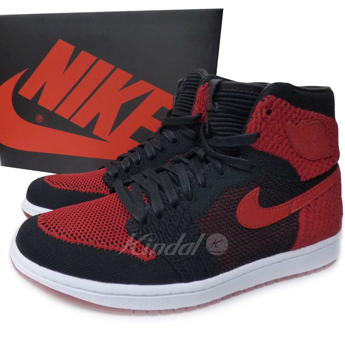 b28651d72a0e43 NIKE AIR JORDAN 1 RETRO HIGH FLYKNIT BANNED Jordan 1 バーンド red black size  26  5cm (Nike)