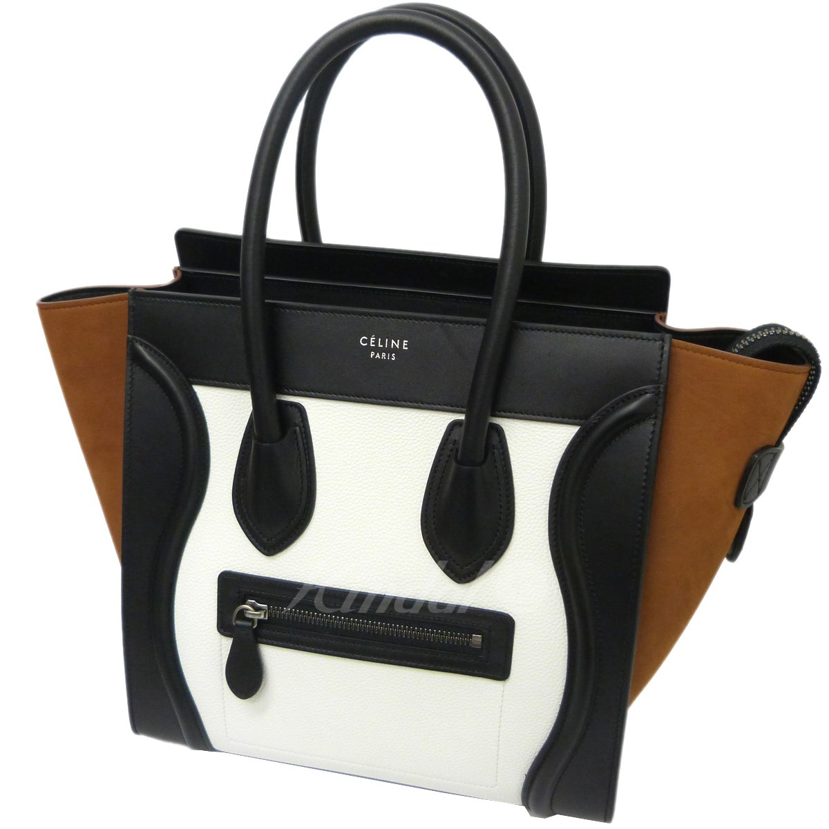 bbd0abfc8232 CELINE 18SS Carrara gauge micro bag white X black X brown size  - (Celine)