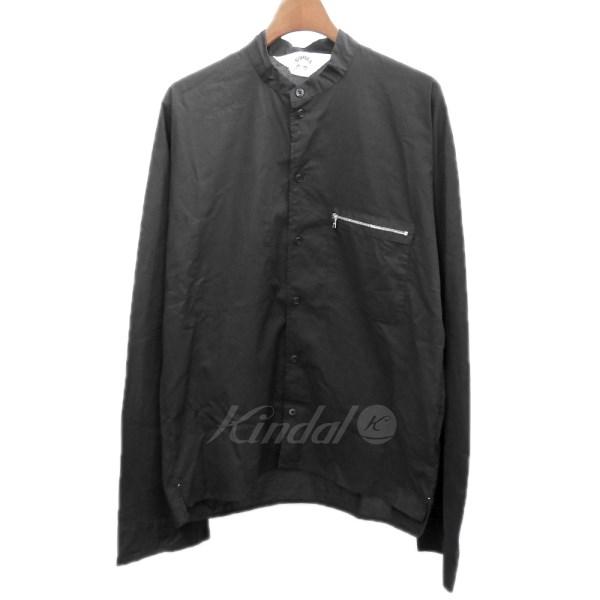 【中古】SUN SEA 18SS「COTTON BOMBER SHIRT」コットンボンバーシャツ ブラック サイズ:2 【送料無料】 【050618】(サンシー)