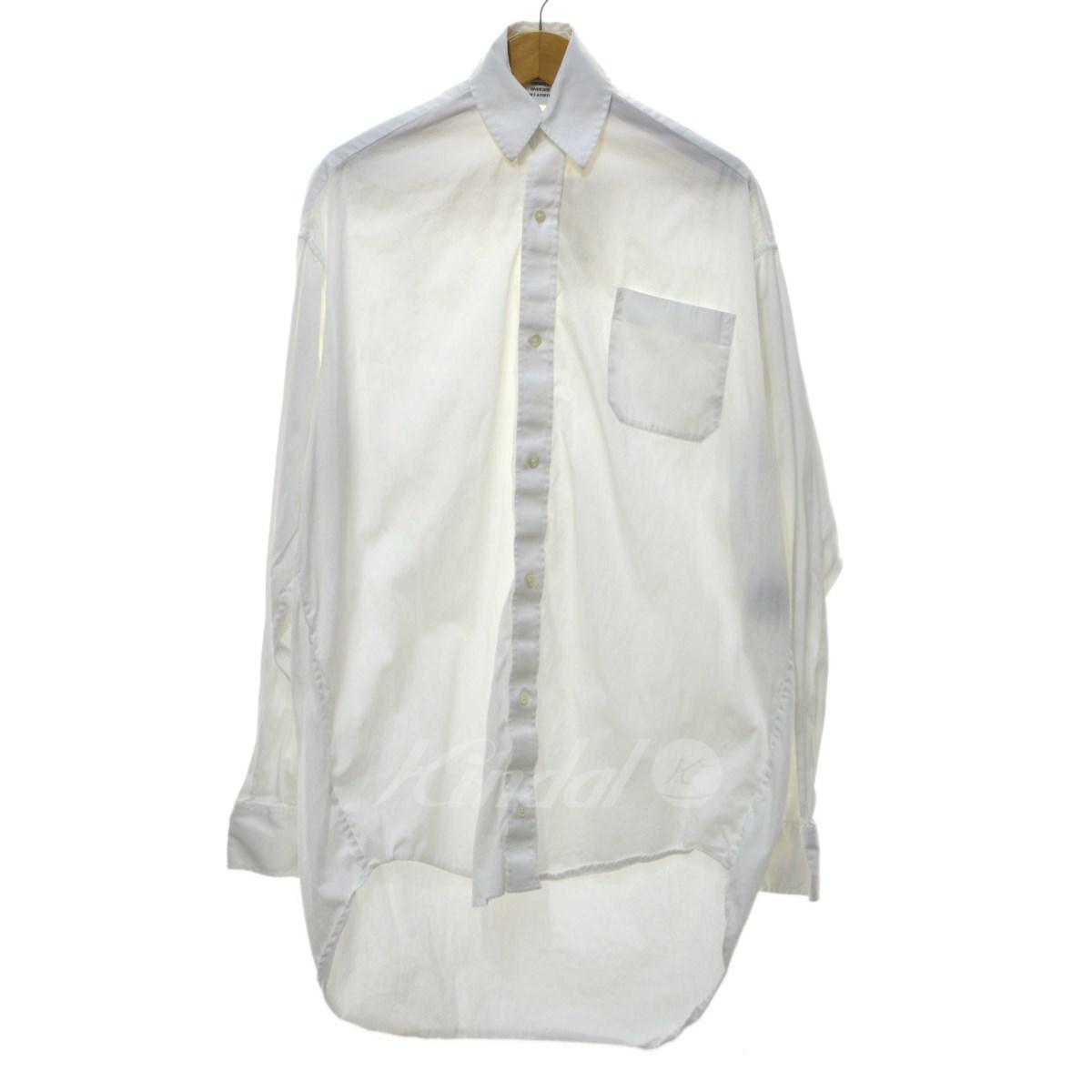 【中古】VETEMENTS Over Size Shirt オーバーサイズシャツ ホワイト サイズ:S 【送料無料】 【050618】(ヴェトモン)