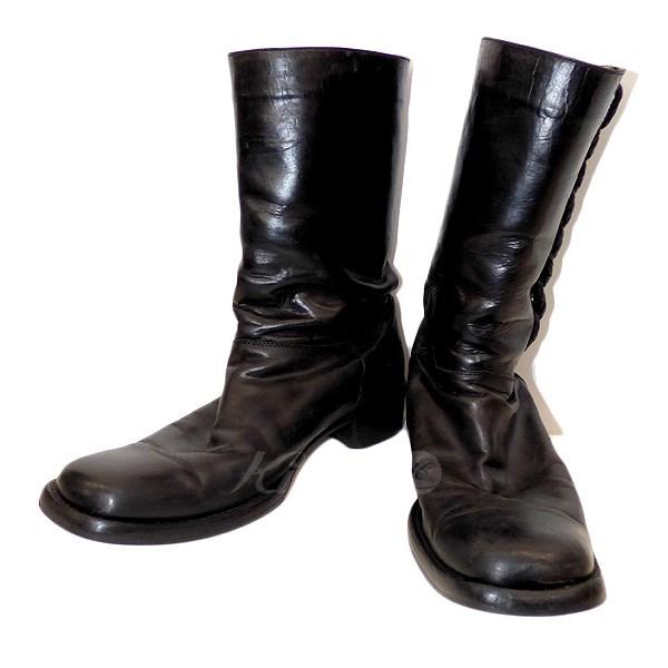 【中古】BOTTEGA VENETA レザーロングブーツ ブラック サイズ:41 1/2 【090618】(ボッテガヴェネタ)