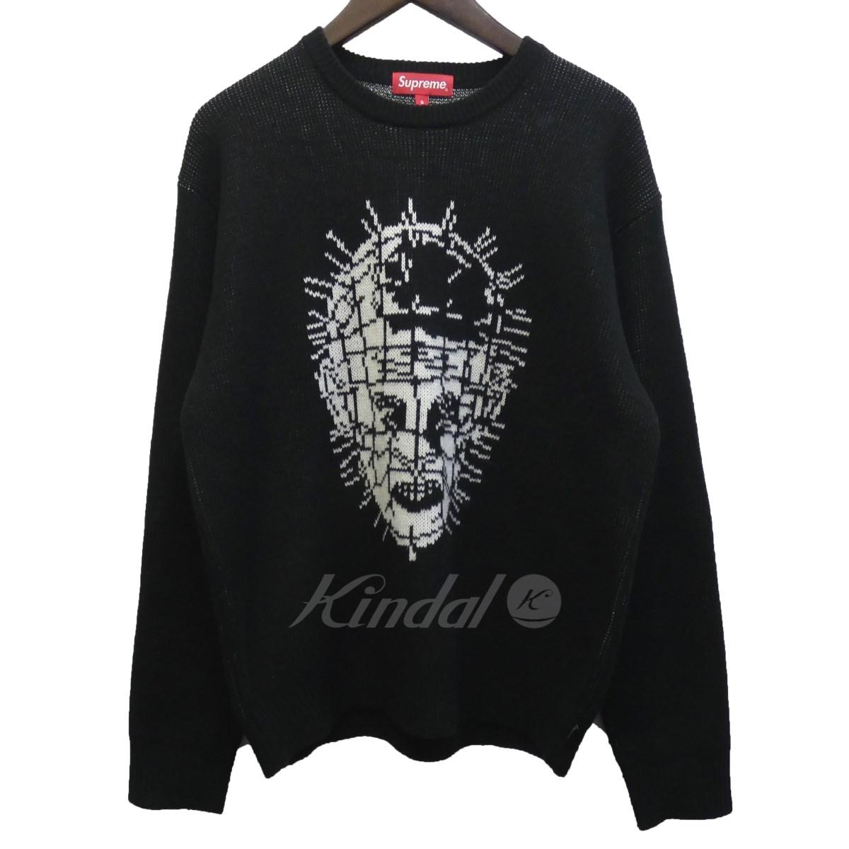 【中古】SUPREME 18SS「Hellraiser Sweater」ヘルレイザーセーター ブラック サイズ:S 【送料無料】 【080618】(シュプリーム)