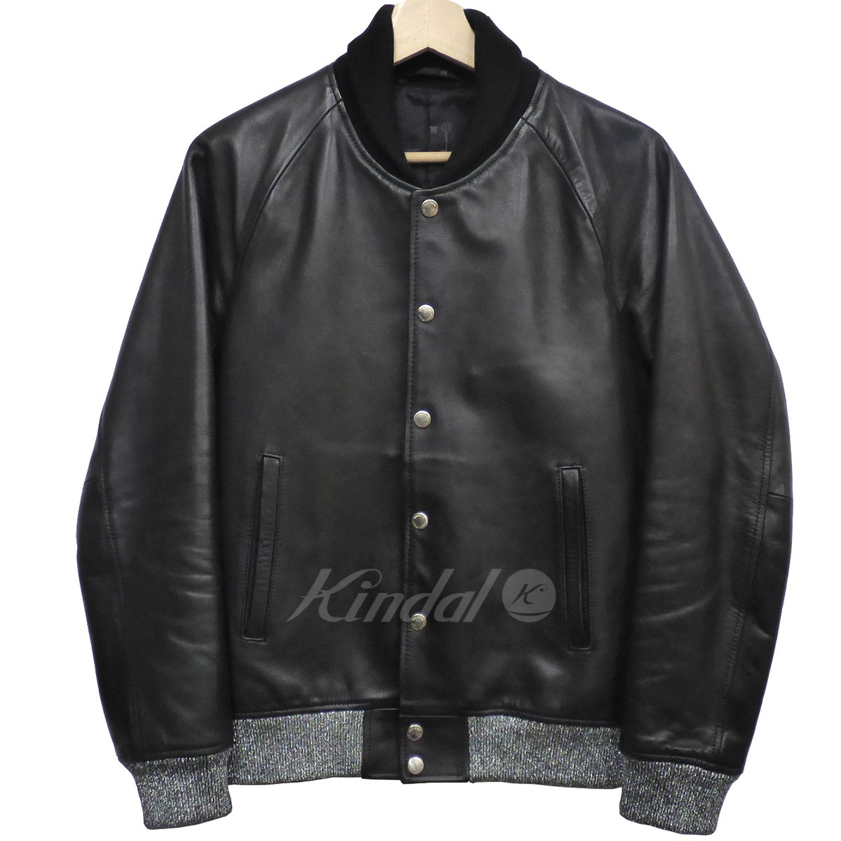 【中古】UNIFORM EXPERIMENT 12AW LEATHER STADIUM BLOUSONレザースタジャン 【送料無料】 【000282】 【SK1364】