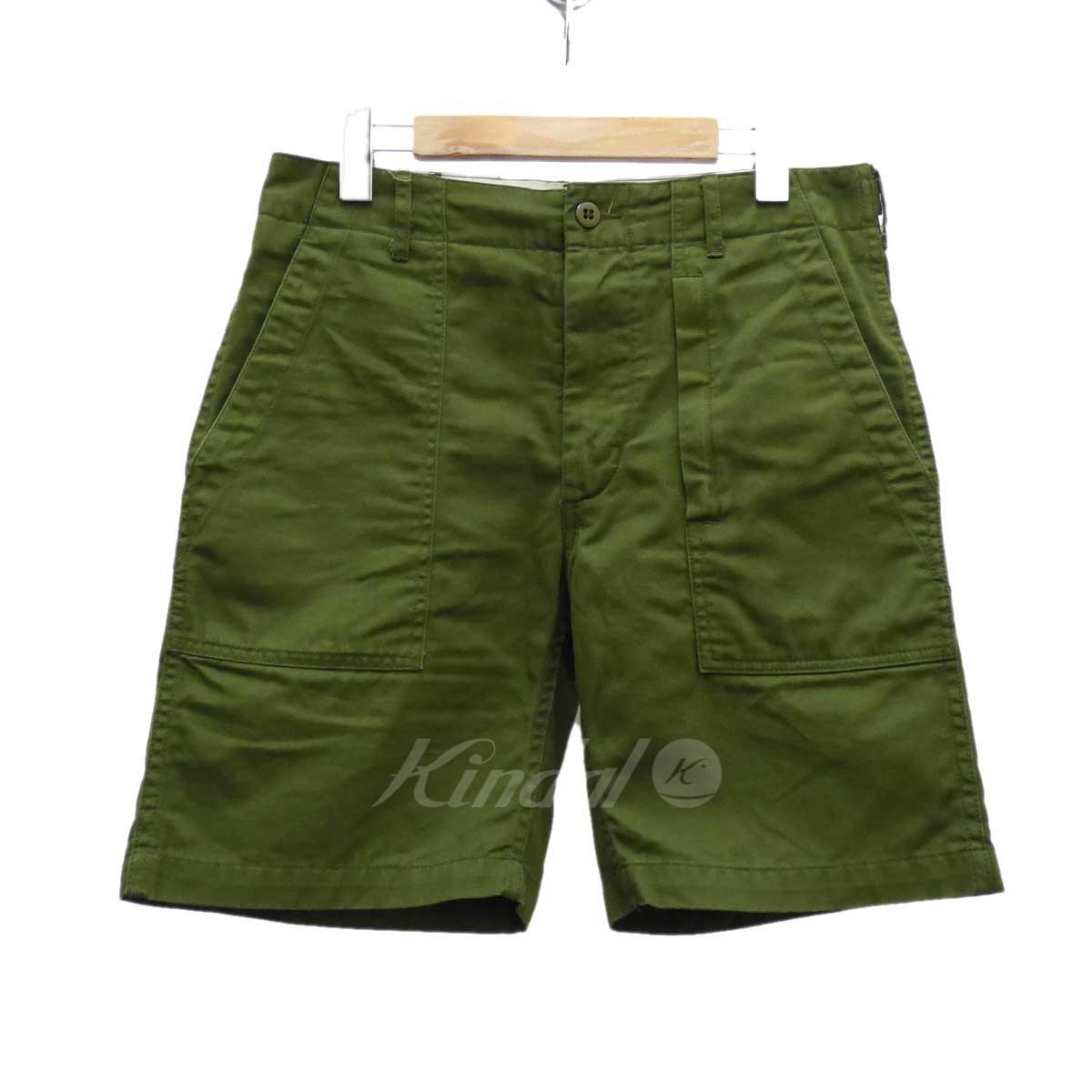 【中古】Engineered Garments Fatigue Short ハーフパンツ オリーブ サイズ:30 【送料無料】 【180618】(エンジニアードガーメンツ)
