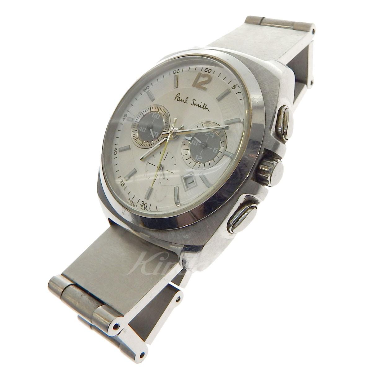 【中古】Paul Smith クロノグラフ クオーツ 腕時計 シルバー 【送料無料】 【180618】(ポールスミス)