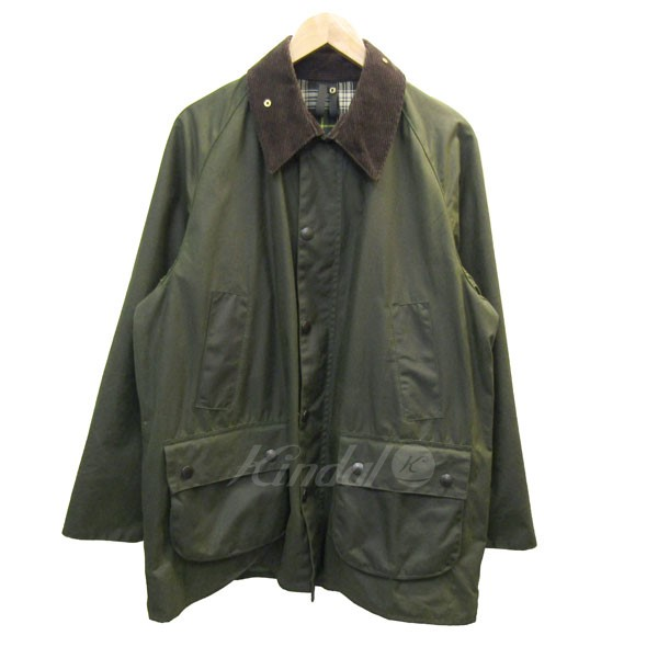 【中古】Barbour A100 BEDALE WAXED COTTON JACKET オイルドジャケット カーキ サイズ:42 【送料無料】 【210618】(バーブァー)