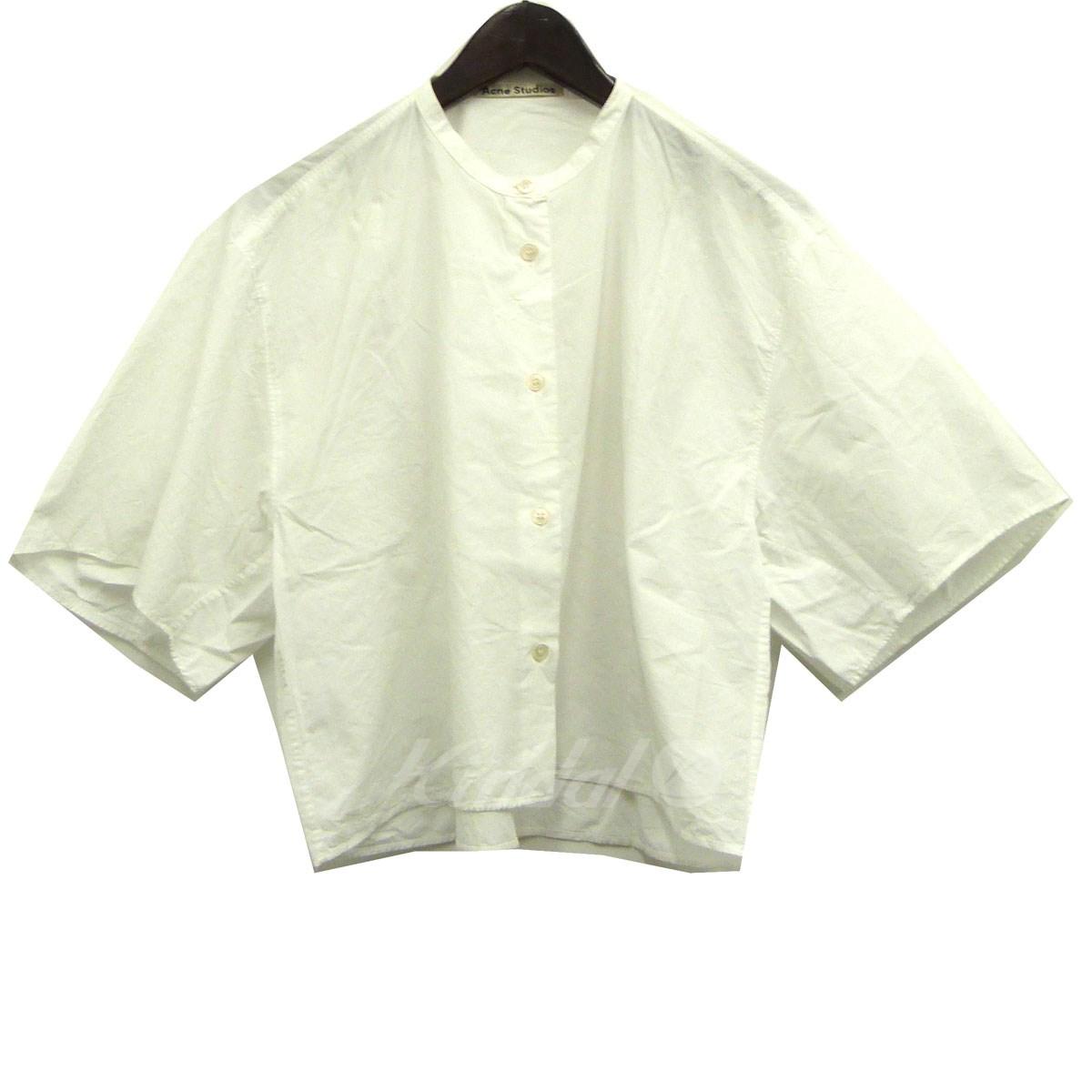 【中古】ACNE STUDIOS 17SS「BRIDGET SPOP」バンドカラーオーバーシャツ ホワイト サイズ:32 【送料無料】 【210618】(アクネストゥディオズ)