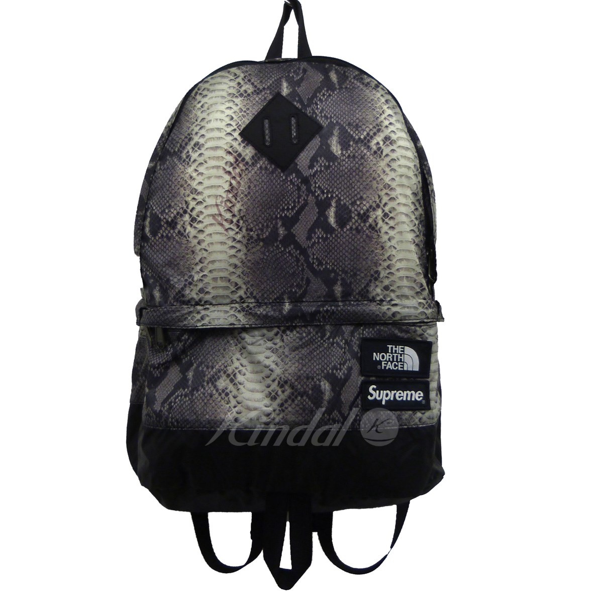 【中古】Supreme x THE NORTH FACE 18SS「Snakeskin Lightweight Day Pack」バックパック ブラック サイズ:- 【送料無料】 【210618】(シュプリーム ノースフェイス)