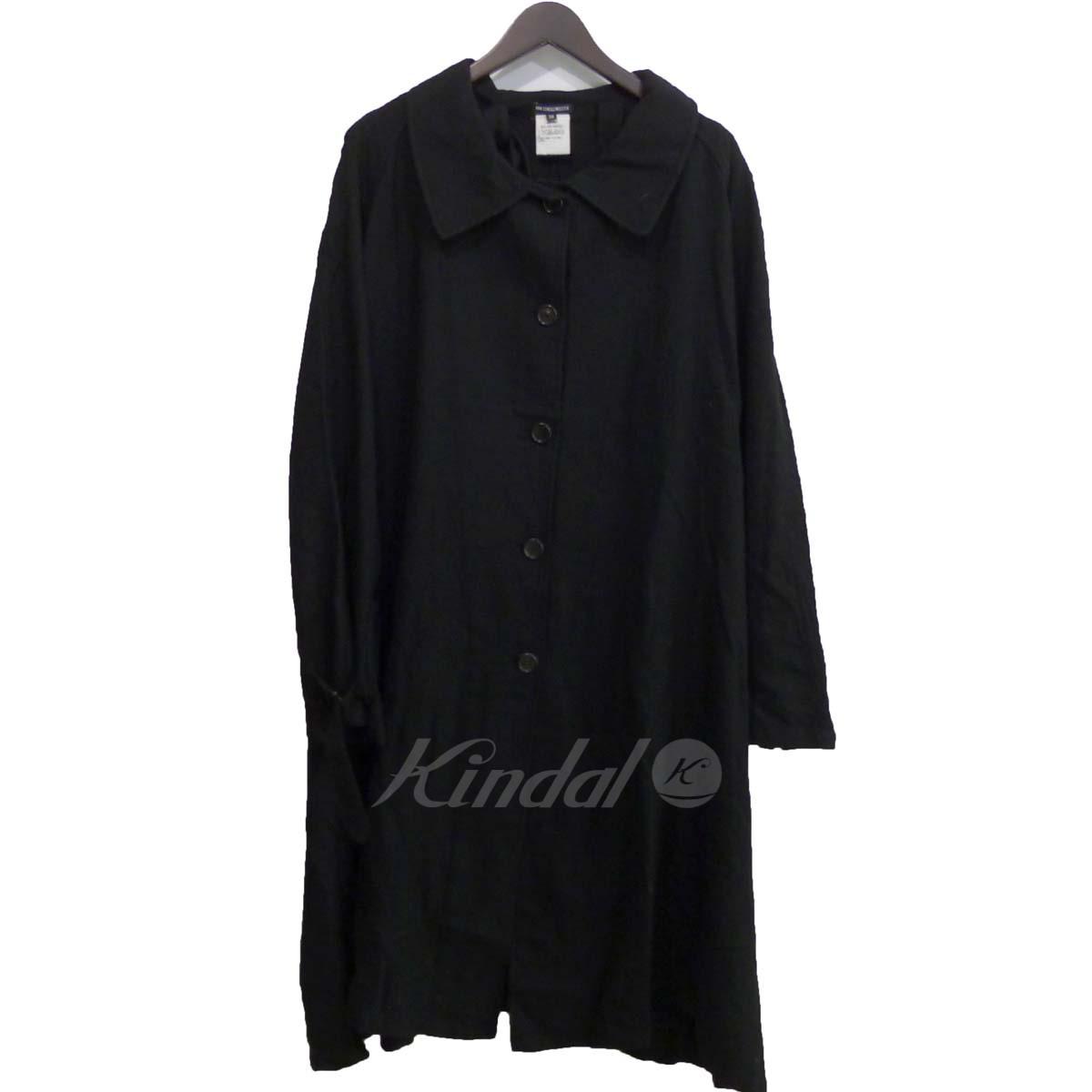 【中古】ANN DEMEULEMEESTER ロングコート ブラック サイズ:36 【送料無料】 【210618】(アンドゥムルメステール)