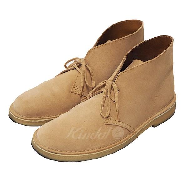 【中古】Clarks 17SS Desert Boot デザートブーツ ファッジ(ベージュ) サイズ:UK9(US10) 【260618】(クラークス)