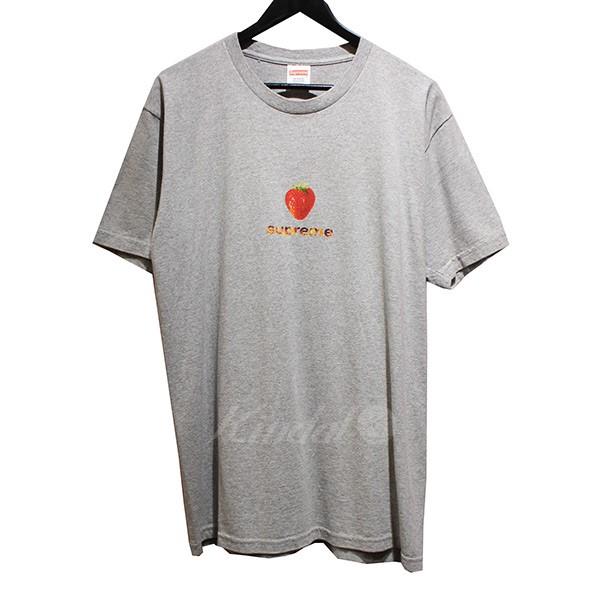 【中古】SUPREME 2016SS Berry Tee ベリー Tシャツ グレー サイズ:L 【010718】(シュプリーム)
