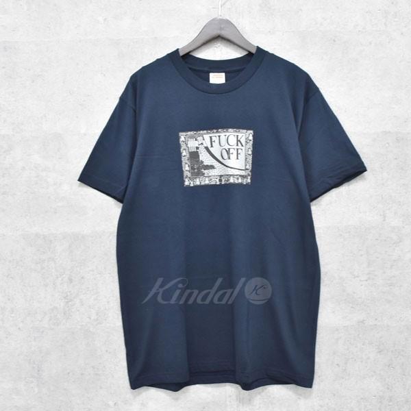 【中古】SUPREME 16SS Fuck Off Tee プリントTシャツ ネイビー サイズ:L 【送料無料】 【010718】(シュプリーム)