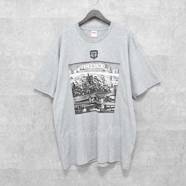 【中古】SUPREME 18SS Fiorenza Tee フォレンツァ プリントTシャツ グレー サイズ:XL 【送料無料】 【010718】(シュプリーム)
