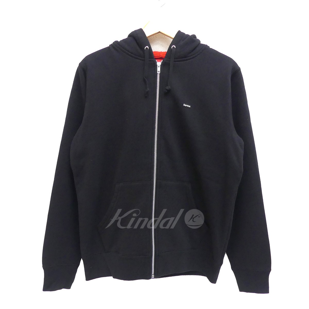 【中古】SUPREME Small Box Logo Zip Up Hooded Sweatshirt 2018SS ブラック サイズ:S 【送料無料】 【010718】(シュプリーム)