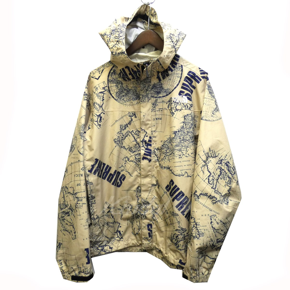 Kindal Supreme X The North Face 12ss Venture Jacket Map Pattern