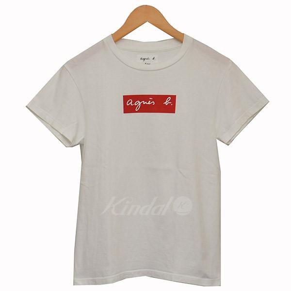 【中古】agnes.b×ADAM ET ROPE BOX LOGO TEE ボックスロゴ Tシャツ ホワイト サイズ:S 【送料無料】 【040718】(アニエスベー×アダムエロペ)
