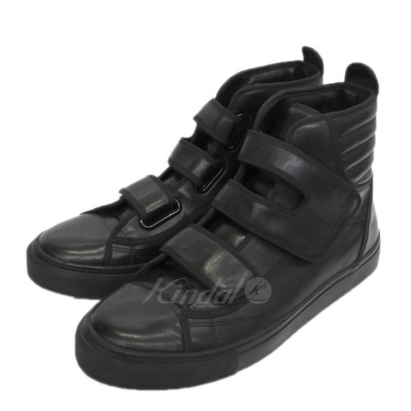 【中古】RAF SIMONS 「High top velcro sneaker」ベルクロハイカットスニーカー ブラック サイズ:40 【送料無料】 【040718】(ラフシモンズ)