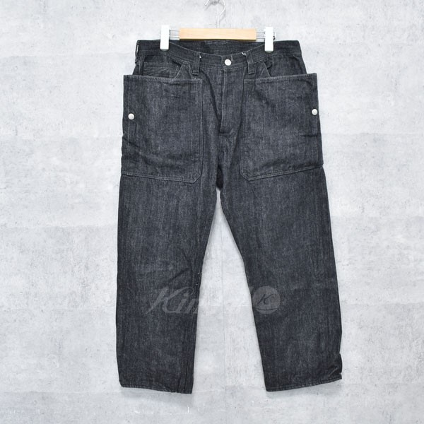 【中古】SASSAFRAS フォールリーフパンツ Fall Leaf Pants ブラック サイズ:XL 【送料無料】 【040718】(ササフラス)