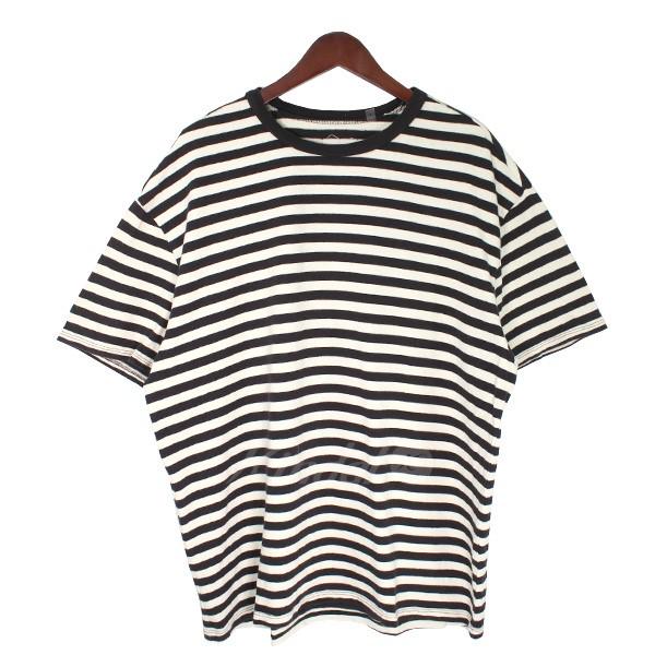 【中古】FOG by FEAR OF GOD COLLECTION TWO ボーダーTシャツ ホワイト×ブラック サイズ:S 【送料無料】 【060718】(エフオージー バイ フィアオブゴッド)