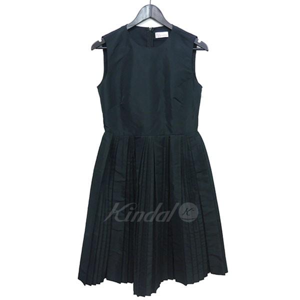 【中古】RED VALENTINO プリーツ ノースリーブ ドレス 【送料無料】 【002393】 【KIND1550】