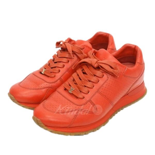 【中古】Supreme×LOUIS VUITTON 2017AW 「LV Run Away Sneaker」スニーカー レッド サイズ:6 【送料無料】 【050718】(シュプリーム ルイヴィトン)