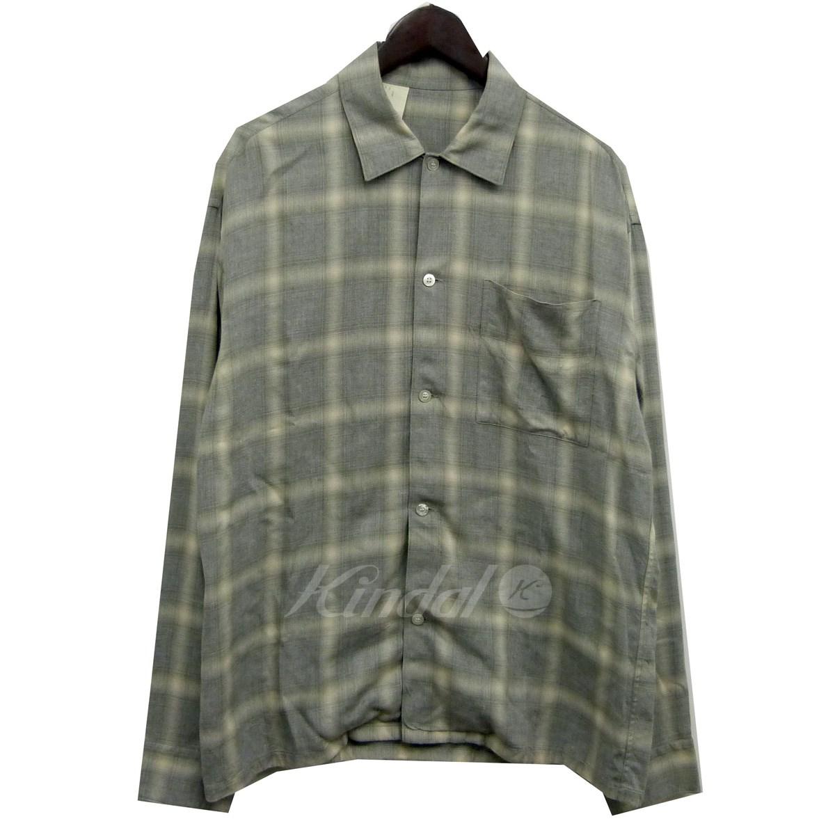 【中古】N.HOOLYWOOD 18SSオンブレチェックシャツ グレー×ベージュ サイズ:40 【送料無料】 【050718】(エヌハリウッド)