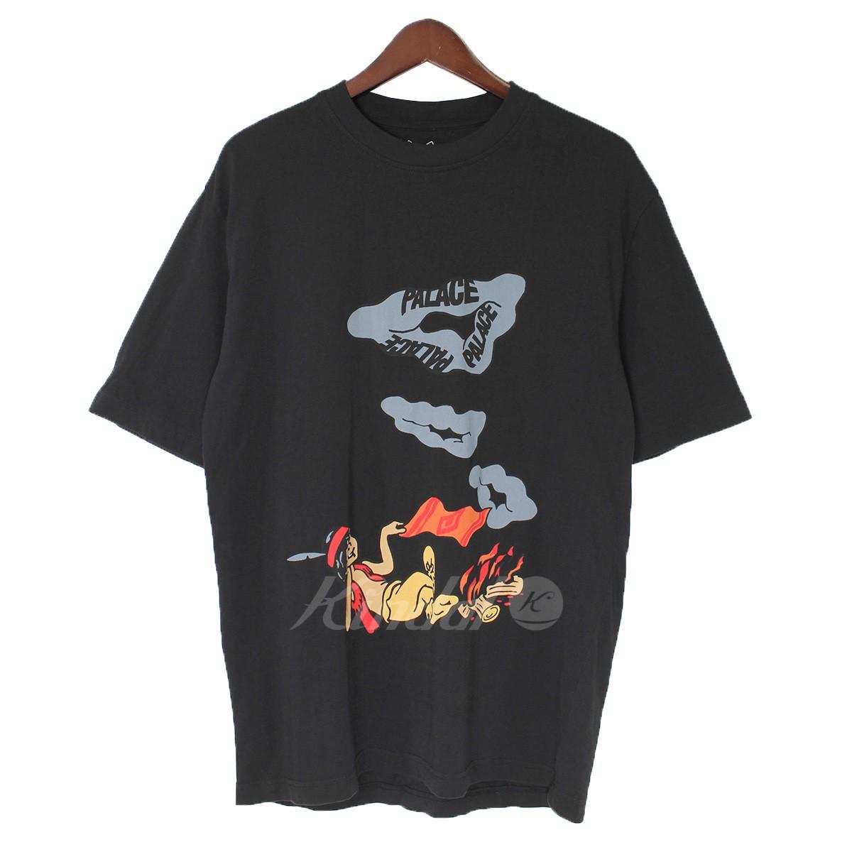 【中古】PALACE SMOKE SIG T-SHIRT 煙トライアングルロゴTシャツ ブラック サイズ:S 【送料無料】 【100718】(パレス)