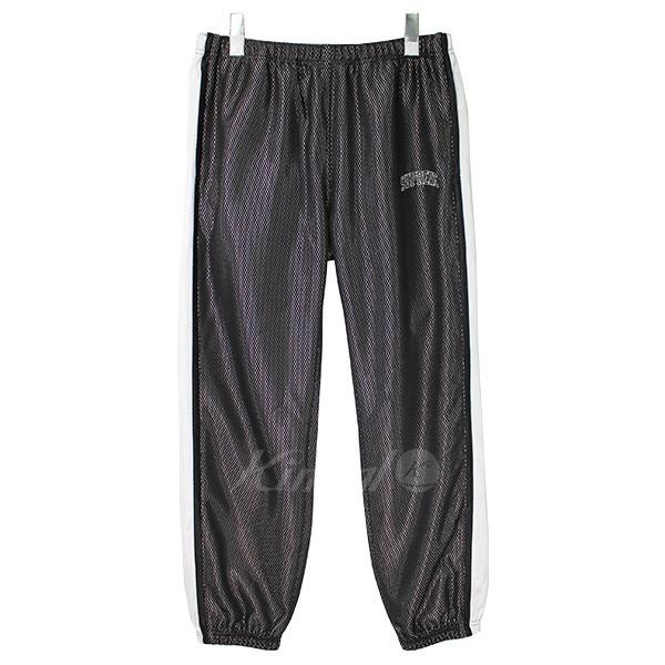 【中古】SUPREME 18SS Bonded Mesh Track Pant ロゴジャージパンツ ブラック×ホワイト サイズ:S 【送料無料】 【100718】(シュプリーム)