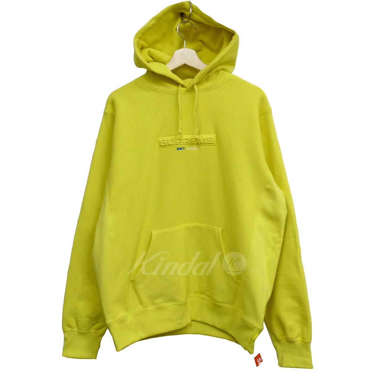 【中古】SUPREME 18SS Embossed Logo Hooded Sweatshirtエンボスフーディーパーカー イエロー サイズ:M 【送料無料】 【100718】(シュプリーム)