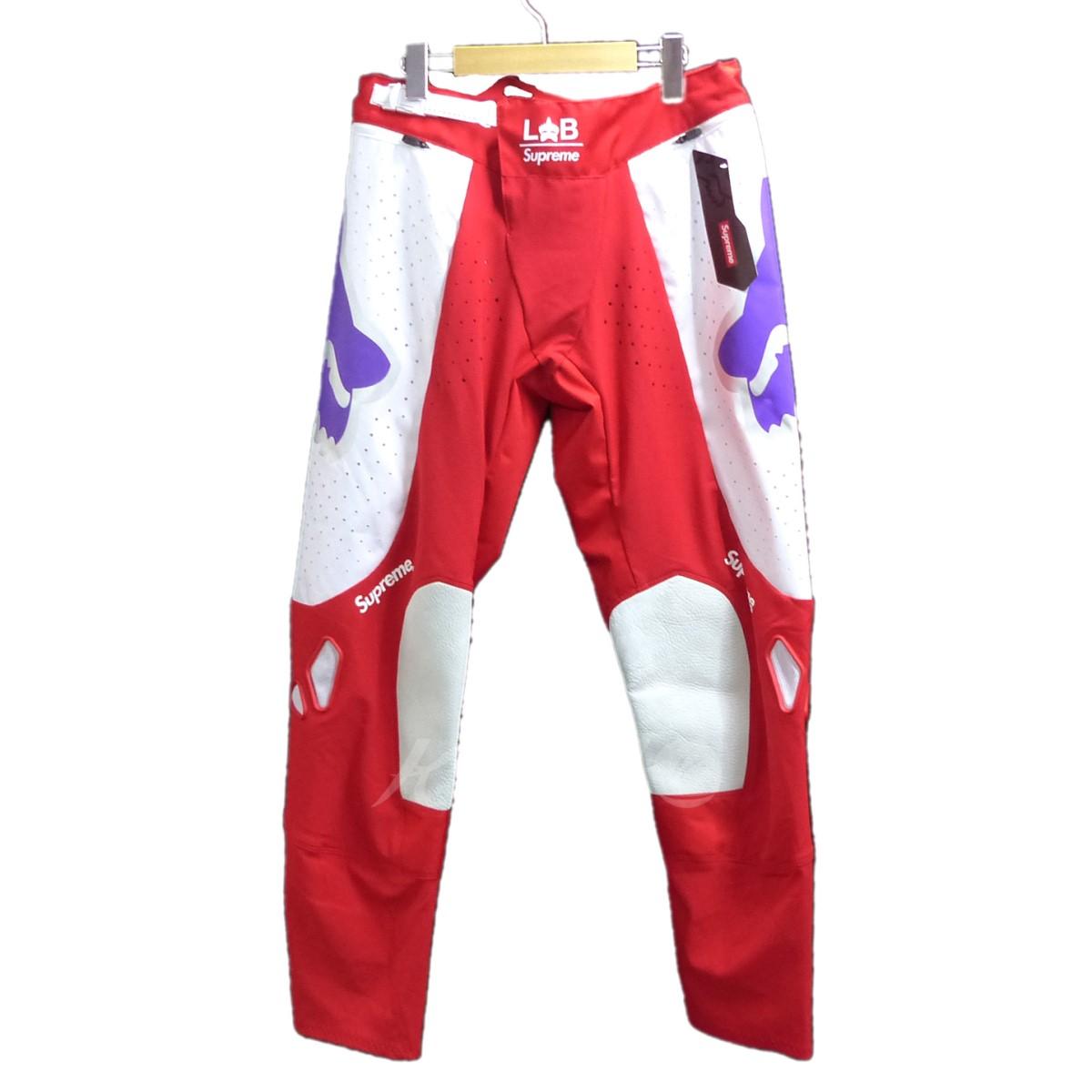 【中古】SUPREME 2018SS Fox Racing Pant レッド サイズ:S 【送料無料】 【100718】(シュプリーム)