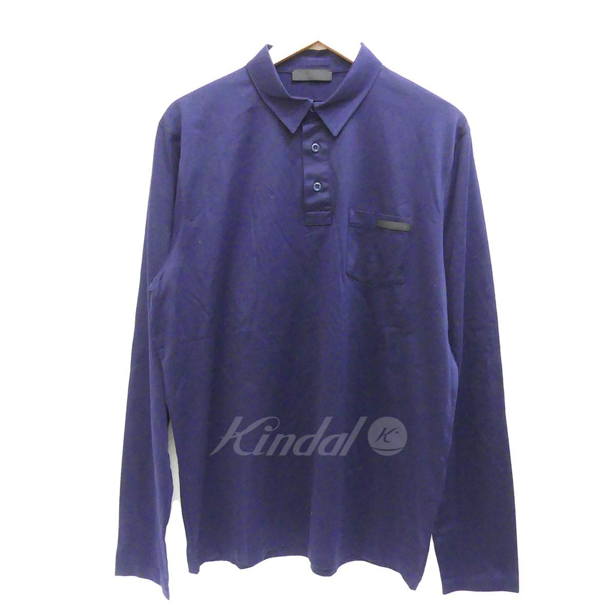 best service 819cd 55829 ロングスリーブポロシャツ 【中古】PRADA ネイビー 【100718 ...