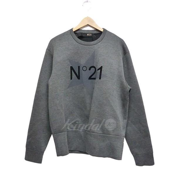 【中古】N21 ポンディングロゴトレーナー グレー サイズ:M 【送料無料】 【090718】(ヌーメロ ヴェンティウノ)